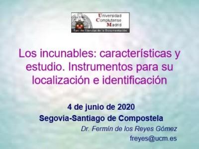 Taller de incunabulística por el Prof. D. Fermín de los Reyes Gómez