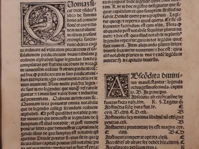 Obra do mes. Decembro 2020. Iacobus de Voragine. Legenda aurea sanctorum, 1494