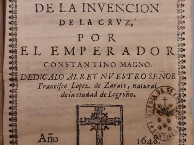 Obra del mes. Septiembre 2021. Poema heroico de la invencion de la Cruz, 1648