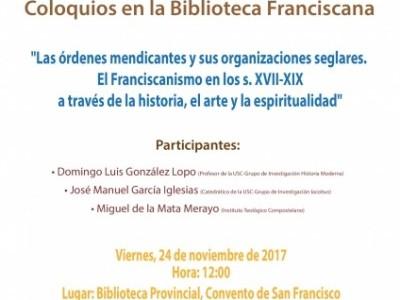 Primer coloquios en la Biblioteca Franciscana